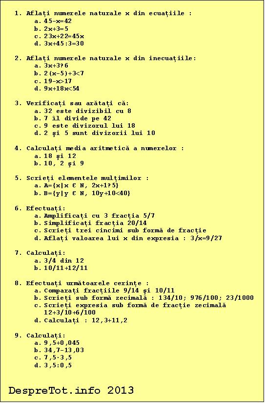 Teste Matematica Clasa A 2 A Download